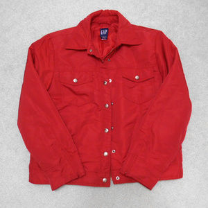 GAP Red Utility Light Puffer Jacket - M